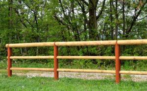 staccionate e parapetti in acciaio, corten e legno