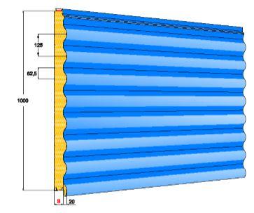 Pannello parete - FN Ondulato